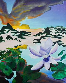 Lotus and Angel Cloud by Ross Wood