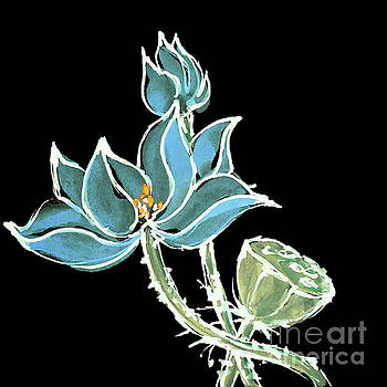 Lotus-Blue by Chris Paschke