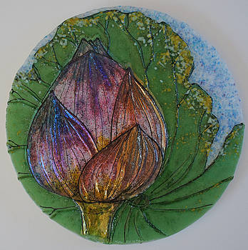 Lotus Bud by Michelle Rial