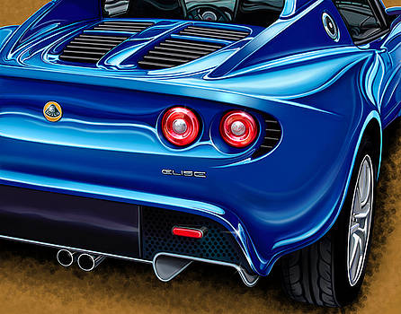 Lotus Elise rearview by David Kyte