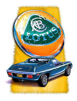 Lotus Europa Blue by David Kyte
