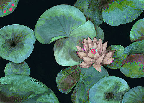 Lotus Light Aqua by Leslie Marcus