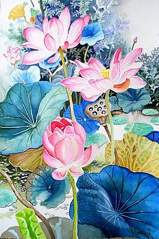 Lotus Pond 3 by Vishwajyoti Mohrhoff