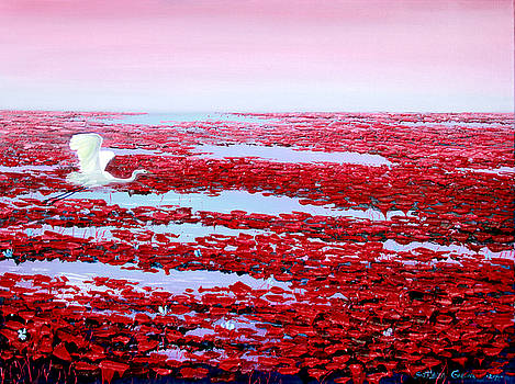 Lotus pond red by SvetLana Grecova
