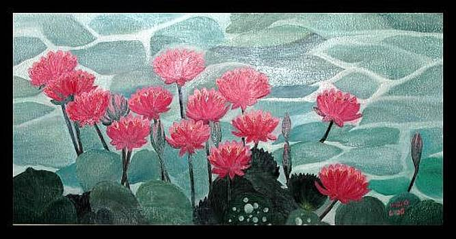 Lotus Pond by Usha Rai