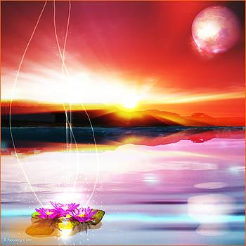 Lotus Rising by Nita Sweeney