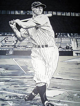 Lou Gehrig by Neal Portnoy