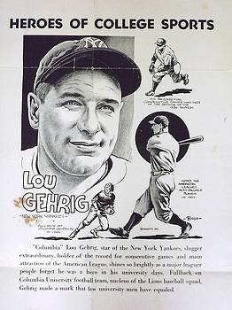 Lou Gehrig by Steve Bishop