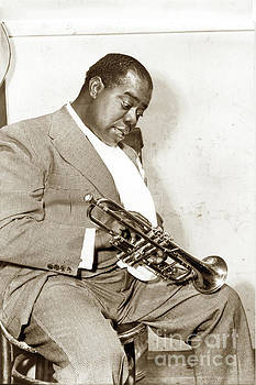 California Views Mr Pat Hathaway Archives - Louis Armstrong, nicknamed Satchmo, trumpeter, musician, and jazz 1958