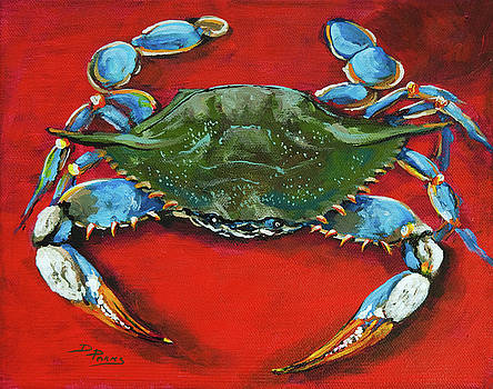 Louisiana Blue on Red by Dianne Parks