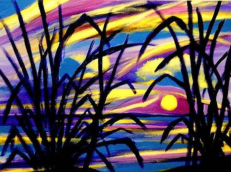 Louisiana Coast Sunrise by Ted Hebbler