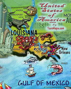 Kevin Middleton - Louisiana Fun Map
