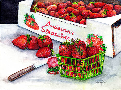 Louisiana Strawberries by Elaine Hodges