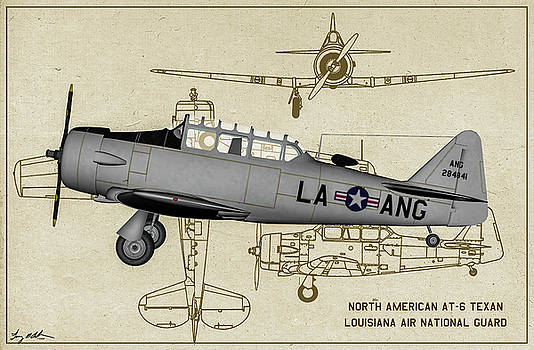 Louisiana - Texan - Profile Art by Tommy Anderson
