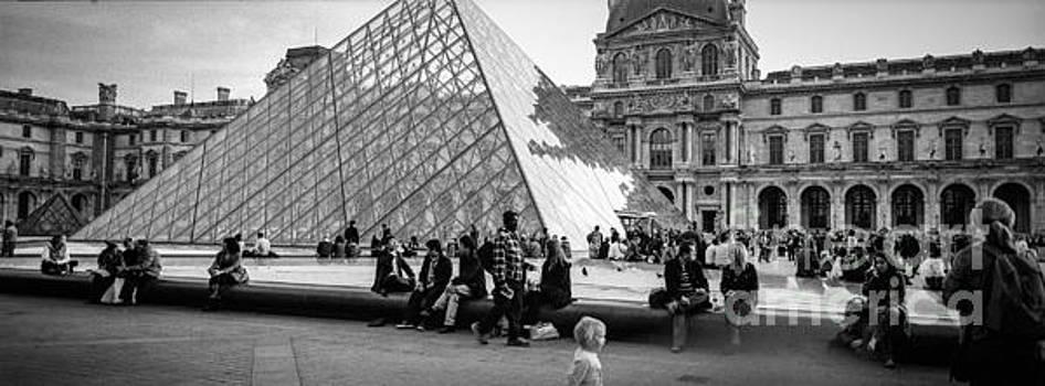 Cyril Jayant - Louvre Pyramide . Paris  in Place du Louver.
