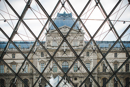 Louvre Through The Pyramid by Sonja Quintero