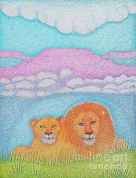 Love Always by Assumpta Tafari Tafrow Neo-Impressionist Works on Paper