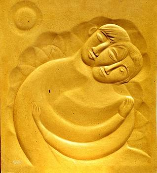 Love and tender 1 by Wall sculpture artist Ahmed Shalaby