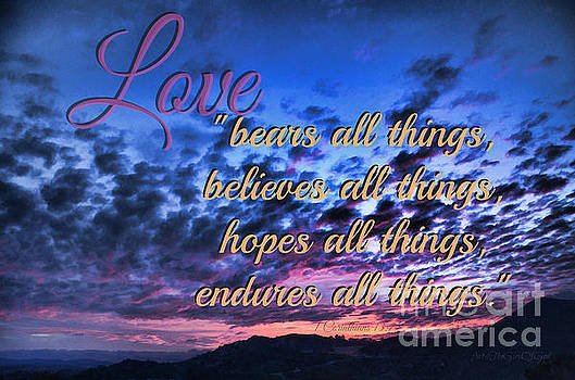 Love Bears All Things - digital painting by Sharon Tate Soberon