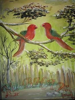 Love birds by M Bhatt
