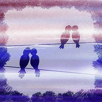 Irina Sztukowski - Love Birds Watercolor Silhouette