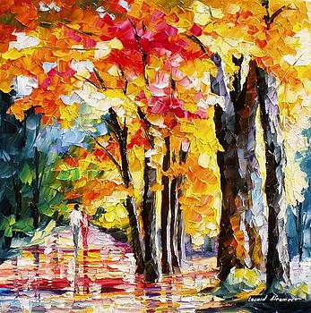 Love Colors - PALETTE KNIFE Oil Painting On Canvas By Leonid Afremov by Leonid Afremov