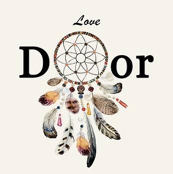 Love Dior watercolour Dreamcatcher by Georgeta Blanaru