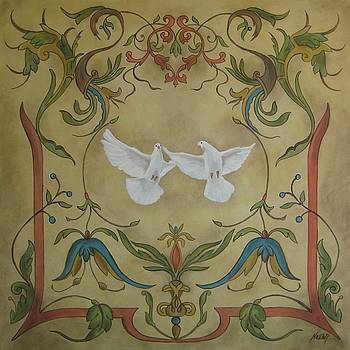 Love Doves by Jindra Noewi