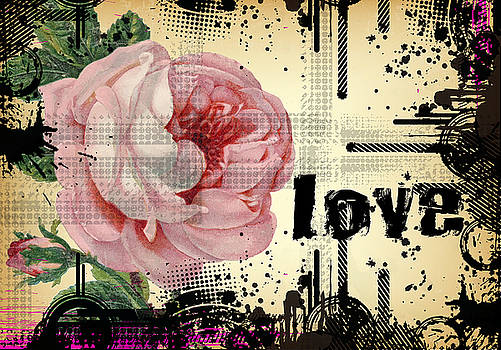Love Grunge Rose by Robert G Kernodle