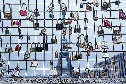 Love Locks and Eiffel by Lilliana Mendez