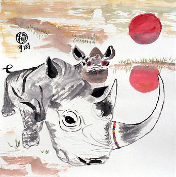 Love Our Rhinos by Ming Yeung