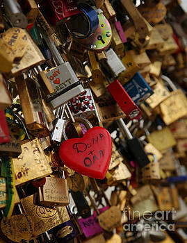 Love padlocks by Isabel Poulin