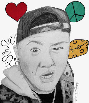 Love, Peace, Skeet ,and Cheese Timothydelaghetto by Anthony Swingler