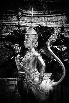 Love statue at Grand Palace, Bangkok by Zina Zinchik