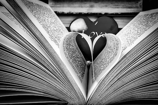 Love To Read Books In Black And White by Garry Gay