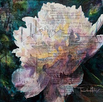 Love - White Peony by Trish McKinney