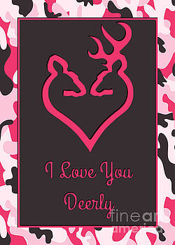 JH Designs - Love You Deerly Pink Camo