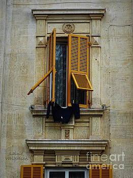 Lovely Portofino Window by Lainie Wrightson