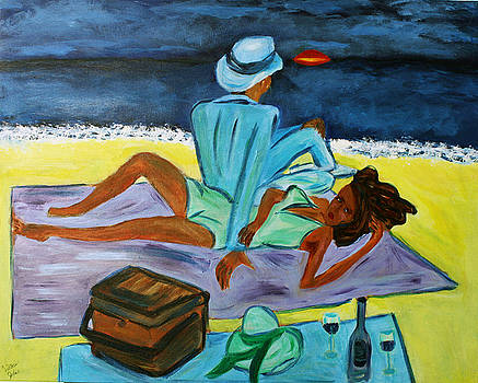 Lovers at Sunset  by Victoria  Johns