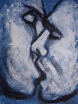 Lovers - Kiss In Blue by Carmen Tyrrell