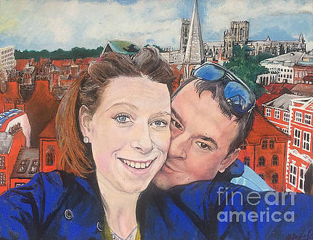 Lovers Selfie in York, England by Michelle Deyna-Hayward