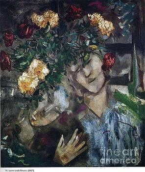 Marc Chagall - Lovers With Flowers