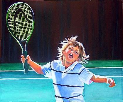 Loving Tennis Lessons by Gail Zavala