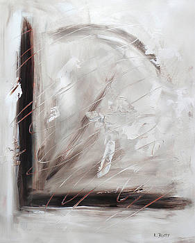 Low Cool Abstract Painting by Karla Beatty