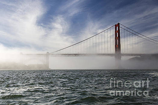 Low Fog at the Gate by Hugh Stickney