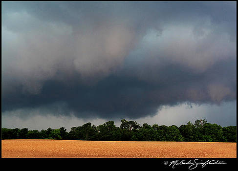 Low Hanging Wall Cloud by Melinda Swinford