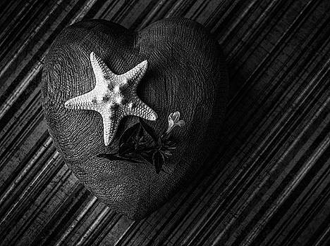 Low key heart and starfish by Debbie Stott