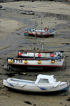 Low Tide at St. Ives Harbor by Carol Kinkead