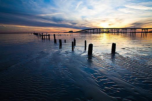 Low Tide Biloxi Bay Bridge by Joan McCool