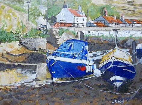 Low Tide Staithes by Fred Urron